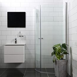 Suihkunurkka Bathlife Mångsidig Vital ovi 900 + ovi 900 kaareva osittain himmeä