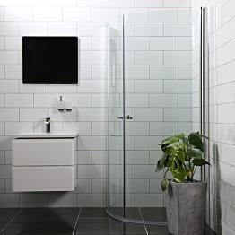 Suihkunurkka Bathlife Mångsidig Vital kaksi ovea 45° 800x1900 mm + 45° 800x1900 mm pyöreä kirkas