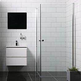 Suihkunurkka Bathlife Mångsidig Vital kaksi ovea 700x1900 mm + 800x1900 mm kulmikas kirkas