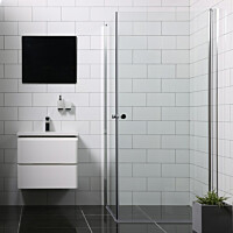 Suihkunurkka Bathlife Mångsidig Vital kaksi ovea 700x700 mm kulmikas kirkas