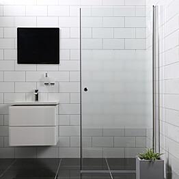 Suihkuovi Bathlife Mångsidig 1000 S/P suora osittain himmeä