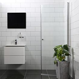 Suihkuovi Bathlife Mångsidig 900 H/P kaareva osittain himmeä