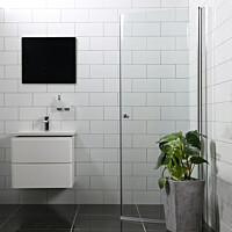 Suihkuovi Bathlife Mångsidig Vital 700x1900 mm S/P kirkas