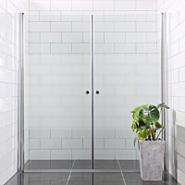 Suihkuseinä Bathlife Mångsidig Vital ovi 700 + ovi 700 osittain himmeä