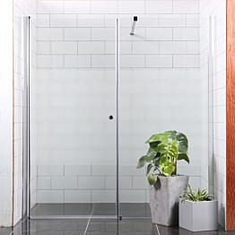 Suihkuseinä Bathlife Mångsidig Vital seinä 900 kirkas + ovi 1000 osittain himmeä