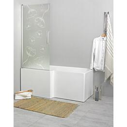 Suihkuseinä kylpyammeelle Noro Fix Trend 80 810x1500 mm käännettävä kuviolasi Vallmo