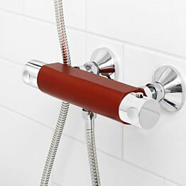 Suihkutermostaatti Gustavsberg Coloric alumiinia punainen