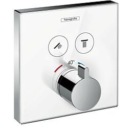 Suihkutermostaatti Hansgrohe ShowerSelect Glass, valkoinen/kromi