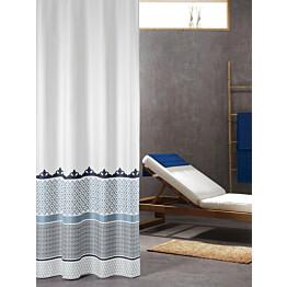 Suihkuverho Pisla Sealskin Marrakech 180x200 cm metallinsininen tekstiili