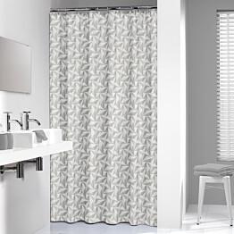 Suihkuverho Pisla Sealskin Piega 3D 180x200 cm harmaa tekstiili