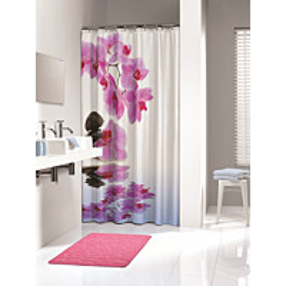 Suihkuverho Pisla Sealskin Spa 180x200 cm pinkki tekstiili