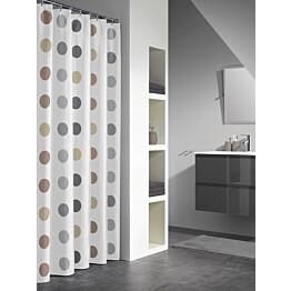 Suihkuverho Pisla Sealskin Twister 180x200 cm monivärinen pallokuvio tekstiili