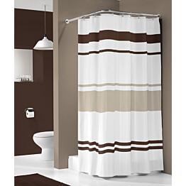 Suihkuverho Pisla Sealskin Urban 180x200 cm ruskea/valkoinen tekstiili