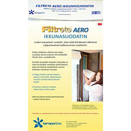 Siitepölysuodatin ikkunaan Terveysilma Filtrete Aero tuuletusikkunaan