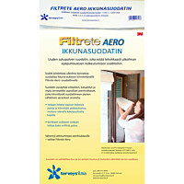 Suodatinkangas Terveysilma Filtrete Aero tuuletusikkunaan