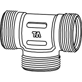 T-haara runko 1/2x3/8x3/8 ulkokierre