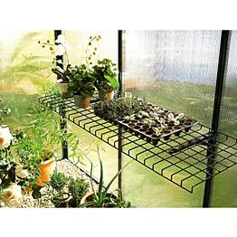 Taittuva teräslankahylly Biogreen 40x120 cm vihreä