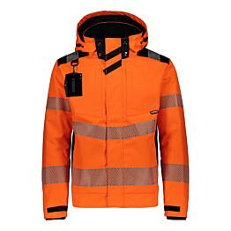 Talvitakki Dimex 6067 hi-vis slimfit oranssi/musta