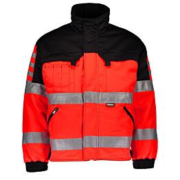 Talvitakki Dimex 6240 hi-vis punainen/musta