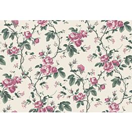 Tapetti Boråstapeter InBloom French Roses, 7210, 0.53x10.05m, valkoinen/tumma roosa