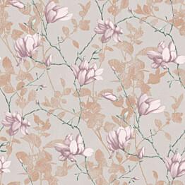 Tapetti Boråstapeter InBloom Lilly Tree, 7230, 0.53x10.05m, beige/roosa