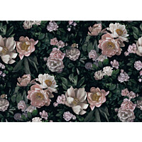 Tapetti Boråstapeter InBloom New Dawn Rose, 7234, 0.53x10.05m, musta