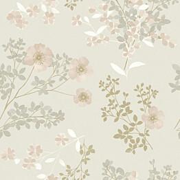 Tapetti Boråstapeter InBloom Prairie Rose, 7231, 0.53x10.05m, beige