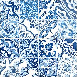 Tapetti Esta Cabana 148636 0,53x10,05 m  sininen/valkoinen