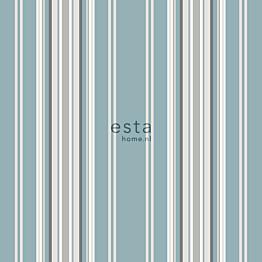 Tapetti Esta College 138807 0,53x10,05 m sininen/beige/ruskea