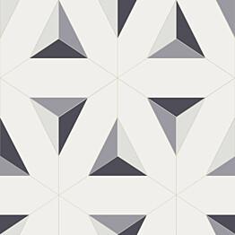 Tapetti Tapetit.fi Elisir EL21074 0,53x10,05 m valkoinen/liila/musta/harmaa