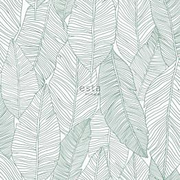 Tapetti ESTA Jungle Fever 139010 0.53x10.05m non-woven vihreä/valkoinen