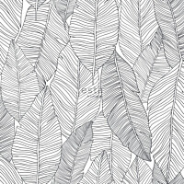 Tapetti ESTA Jungle Fever 139011 0.53x10.05m non-woven musta/valkoinen