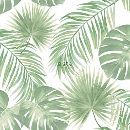 Tapetti ESTA Jungle Fever 139012 0.53x10.05m non-woven vihreä/valkoinen
