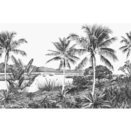 Tapetti ESTA Jungle Fever 158901 4.185x2.79m non-woven valkoinen/musta