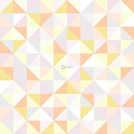 Tapetti Origin Hide & Seek 337211 0,53x10,05 m valkoinen/keltainen/oranssi/harmaa/vaaleanpunainen