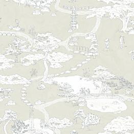 Tapetti Sandberg Kenrokuen kerma 239-29, 0.53x10.05m, non-woven