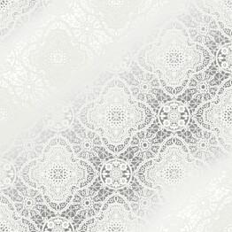 Tapetti Sandudd Belle 5338-5, 0,53x10,05 m, hopea/valkoinen, non-woven