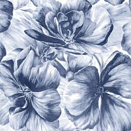 Tapetti Sandudd Belle 5339-4, 0,53x10,05 m, vaalea/sininen, non-woven