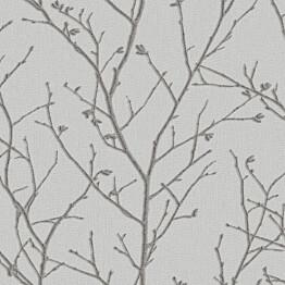 Tapetti Sandudd Vermeil 104754, 0,52x10,05m, vaaleanharmaa/hopea, non-woven