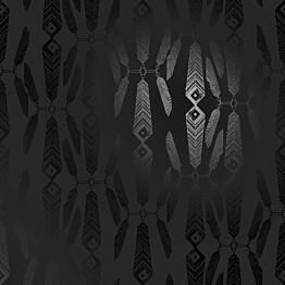 Tapetti Sandudd Ivana Helsinki 5248-5, 0,53x10,05m, musta/helmiäinen, non-woven