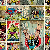 Tapetti Sandudd Marvel Comic Strip 70-264 0.53x10.5m