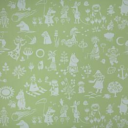 Tapetti Sandudd Moomin 5164-6, 0,53x11,2m, vihreä, non-woven