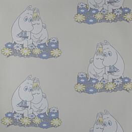 Tapetti Sandudd Muumi 4909-1, 0,53x11,2m, beige, non-woven
