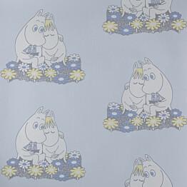 Tapetti Sandudd Muumi 4909-2, 0,53x11,2m, sininen, non-woven