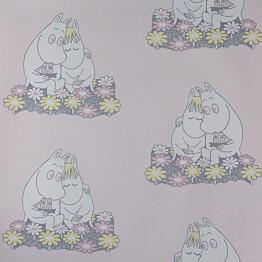 Tapetti Sandudd Muumi 4909-3, 0,53x11,2m, vaaleanpunainen, non-woven