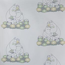 Tapetti Sandudd Muumi 4909-4, 0,53x11,2m, valkoinen, non-woven