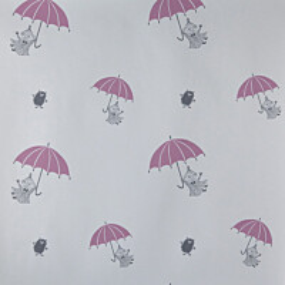Tapetti Sandudd Muumi 4911-2, 0,53x11,2m, valkoinen/pinkki, non-woven