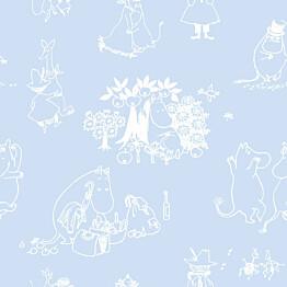 Tapetti Sandudd Muumi 5350-3, 0.53x10.05m, sininen, non-woven