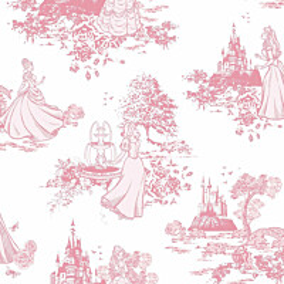 Tapetti Sandudd Princess Pink Toile 70-233 0.53x10.5m