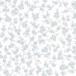 Tapetti Sandudd Rantaniitty 5311-2, 0,53x11,20 m, valkoinen/sininen, non-woven